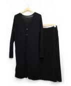 ROPE(ロペ)の古着「プリーツスカートセットアップニットワンピース」 ブラック