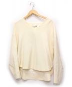 ENFOLD(エンフォルド)の古着「ウォームダブルクロスバナナスリーブプルオーバー」|ホワイト