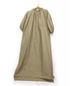 Americana(アメリカーナ)の古着「タフタPOシャツワンピース」|ベージュ