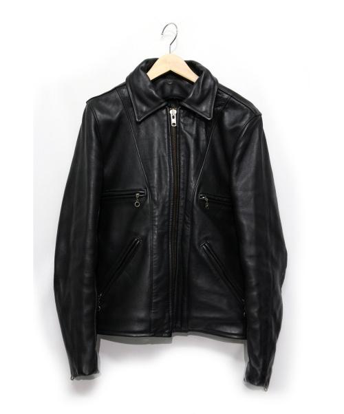 VANSON(バンソン)VANSON (バンソン) レザージャケット ブラック サイズ:36 内部毛羽立ち有ライナー欠品 の古着・服飾アイテム