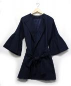 SACRA(サクラ)の古着「ラッフルスリーブコート」 ネイビー