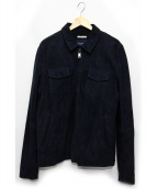 SCOTCH & SODA(スコッチアンドソーダ)の古着「スウェードジャケット」|ネイビー