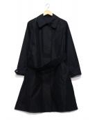 MARGARET HOWELL(マーガレットハウエル)の古着「コットンナイロンステンカラーコート」 ネイビー