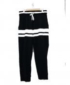 Seagreen(シーグリーン)の古着「パイル地イージーパンツ」|ブラック
