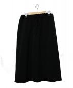 ASTRAET(アストラット)の古着「カットオフドローストリングスカート」|ブラック