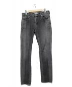SERGE de bleu(サージ)の古着「スキニーデニムパンツ」|ブラック