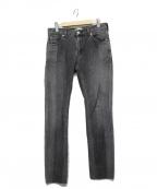 SERGE de bleu(サージ デ ブルー)の古着「スキニーデニムパンツ」|ブラック