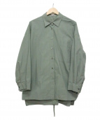 CLANE(クラネ)の古着「BACK SLIT SHIRT」|グリーン