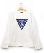 GUESS(ゲス)の古着「ロゴスウェット」|ホワイト