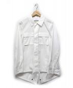 ASTRAET(アストラット)の古着「ドロストシャツジャケット」|ホワイト