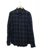 ARTISAN(アルティザン)の古着「オンブレチェックシャツ」|ブラック×ネイビー