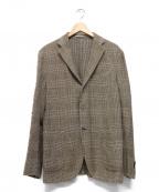 BOGLIOLI()の古着「テーラードジャケット」|ベージュ×ブラウン