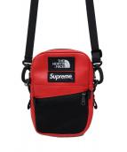 SUPREME×THE NORTH FACE(シュプリーム×ザ・ノースフェイス)の古着「Leather Shoulder Bag」|レッド