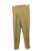 Paul Stuart(ポールスチュアート)の古着「Linen Rayonパンツ」|オリーブ