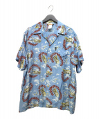 AVIREX(アビレックス)の古着「アロハシャツ」 ブルー