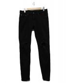 MNML(ミニマル)の古着「クラッシュジーンズ」|ブラック
