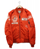 AVIREX(アビレックス)の古着「L2BTOMCATフライトジャケット」|オレンジ
