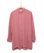 MAX MARA WEEK END LINE(マックスマーラ ウイークエンドライン)の古着「シルクロングシャツ」|ピンク
