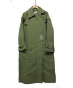 OKIRAKU × ROSE BUD(オキラク×ローズバッド)の古着「ロングコート」 オリーブ