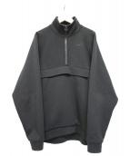Graphpaper(グラフペーパー)の古着「ハーフジッププルオーバー」|ブラック