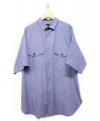ato(アトウ)の古着「ハーフスリーブシャツ」|ブルー