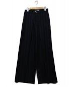 ASTRAET(アストラット)の古着「ストライプワイドパンツ」|ブルー×ブラック