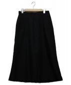 CINOH(チノ)の古着「フロントタックスカート」|ブラック