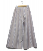 CELFORD(セルフォード)の古着「マルチストライプワイドパンツ」|グレー