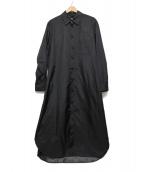 GROUND Y(グラウンドワイ)の古着「ロングドレスシャツ」|ブラック