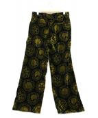 SASQUATCHfabrix.(ザスクワッチファブリックス)の古着「TFS SYMBOL VELVET PANTS」|ブラック