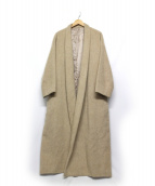 DRESSTERIOR(ドレステリア)の古着「アルパカ混シャギーガウンコート」|ベージュ