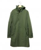 COMME CA ISM(コムサイズム)の古着「フーデッドコート」 グリーン