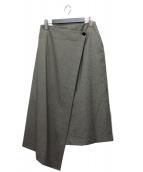 HYKE(ハイク)の古着「ラップデザインスカート」|ベージュブラウン