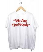 sacai(サカイ)の古着「We Are The PeopleサイドジップTシャツ」|ホワイト×レッド