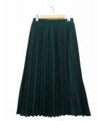 LAUTRE AMONT(ロートレアモン)の古着「クラシカルアコーディオンプリーツスカート」 グリーン