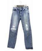 Ron Herman(ロンハーマン)の古着「ダメージ加工デニムパンツ」|インディゴ