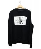 ck Calvin Klein(シーケーカルバンクライン)の古着「プリントスウェット」|ブラック