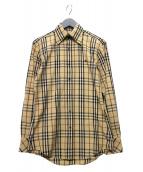BURBERRY BLACK LABEL(バーバリーブラックレーベル)の古着「ノヴァチェックシャツ」 ベージュ