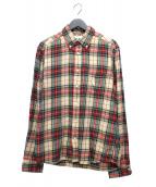 DIESEL(ディーゼル)の古着「チェックシャツ」 ベージュ×レッド