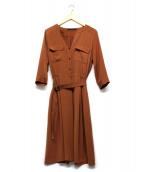martinique(マルティニーク)の古着「ワンピースドレス」|ブラウン