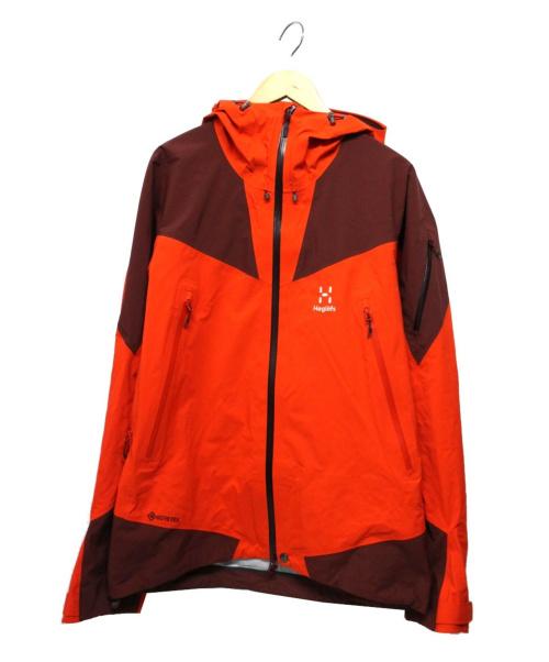 HAGLOFS(ホグロフス)HAGLOFS (ホグロフス) ロックスパイアジャケット オレンジ サイズ:M GORE-TEXの古着・服飾アイテム