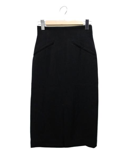 Whim Gazette(ウィムガゼット)Whim Gazette (ウィムガゼット) アチェローザサテンスカート ブラック サイズ:36の古着・服飾アイテム