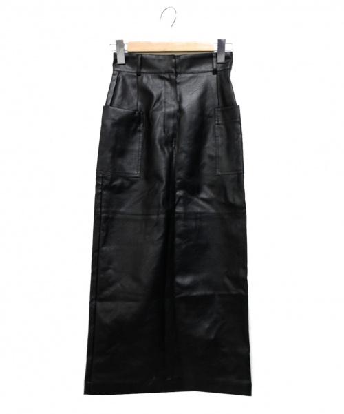 CLANE(クラネ)CLANE (クラネ) フェイクレザーマキシスカート ブラック サイズ:1の古着・服飾アイテム