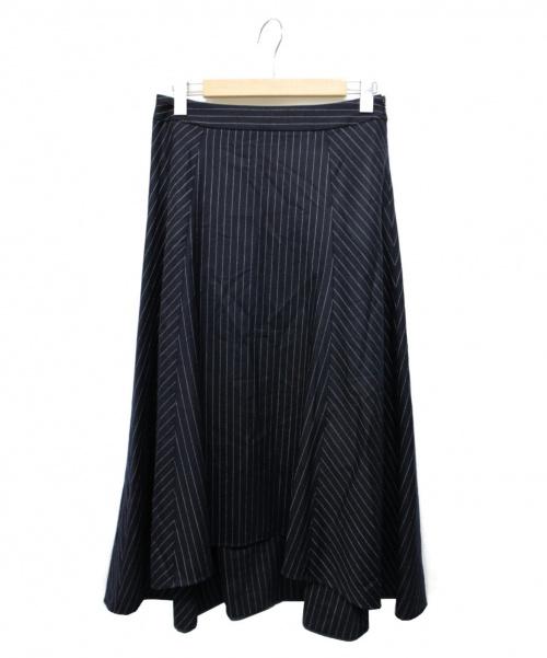 ASTRAET(アストラット)ASTRAET (アストラット) ストライプスカート ネイビー サイズ:2の古着・服飾アイテム