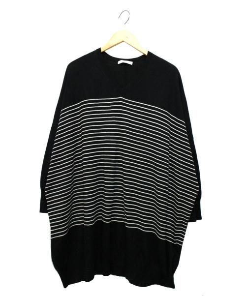 ASTRAET(アストラット)ASTRAET (アストラット) Vネックニットワンピース ブラック サイズ:FREEの古着・服飾アイテム