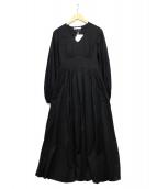 MARIHA(マリハ)の古着「ハイウエストワンピース」 ブラック
