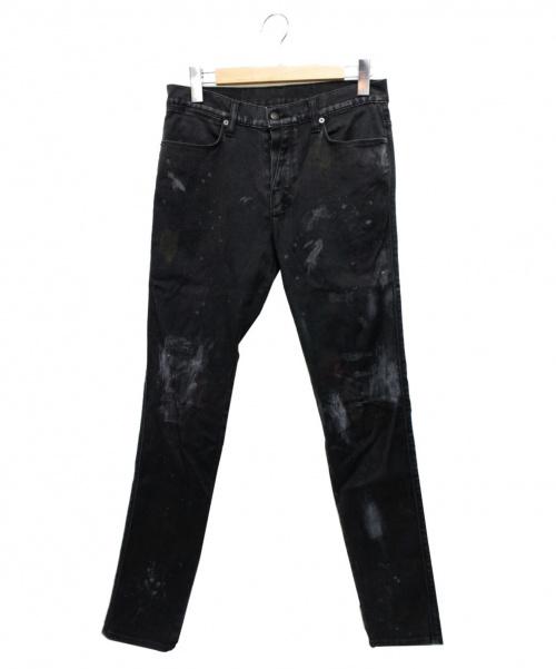 Ksubi(スビ)Ksubi (スビ) 加工デザインパンツ ブラック サイズ:81cm(W32)の古着・服飾アイテム