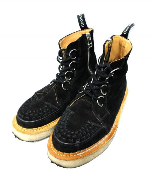 GEORGE COX(ジョージコックス)GEORGE COX (ジョージコックス) ラバーソールブーツ ブラック サイズ:8 HUMAN MADE×SEVENの古着・服飾アイテム