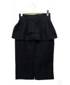 LIMI feu(リミフゥ)の古着「フリルスカート」|ブラック