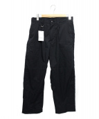 uniform experiment(ユニフォームエクスペリメント)の古着「1TUCK WIDE PANTS」|ブラック